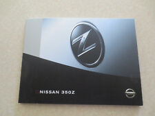 2004 Nissan 350Z sports car advertising booklet