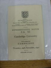 29/11/1951 Football Association XI V Cambridge University [a cambruidge] informare