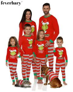 CHRISTMAS PYJAMAS THE GRINCH FAMILY MENS LADIES GIRLS BOYS NIGHTWEAR XMAS PJ SET