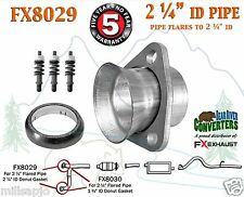 "FX8029 2 1/4"" Semi Direct Fit Exhaust Flared Y Pipe Triangle Flange Repair Kit"