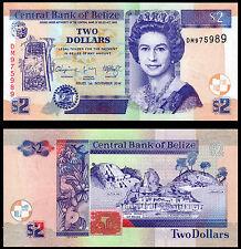 BELIZE 2 DOLLARS (P66e) 2014 QEII UNC