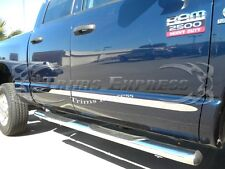 2005-2011 Dodge Dakota Extended/Club Cab Flat Chrome Body Side Molding 4Pc