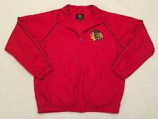 G-III Sports by Carl Banks Red NHL Chicago Blackhawks Embroidered Jacket, Sz L