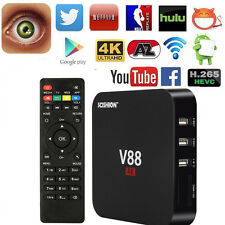New 265 V88 TV Box HD Core 4K WiFi RK3229 5.1 Android Quad Player Media T