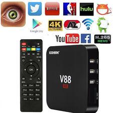 V88 Quad Core Android 5.1 Smart TV Box WiFi RK3229 4K HD H.265 Media Player EU