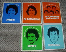 WELCOME BACK KOTTER  SWEATHOG'S SPIRAL NOTEBOOKS  MEAD  5 DIFF  1976  UNUSED