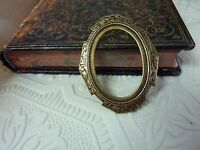 4  Brass stamped 1930s style frames to frame your honey's photo scrapbooking
