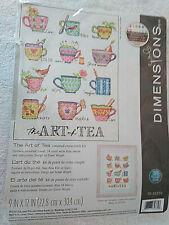 "Cross Stitch Kit  Dimensions ""The Art of Tea"" Teacups 9X12""  #70-35335 #"
