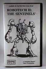Robotech II The Sentinels VHS Tape 1987 Rare  Lost Episodes Free Ship VCR Anime