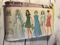 Vintage McCalls sewing pattern 2376 Size 10 Bride And Bridesmaid Dresses
