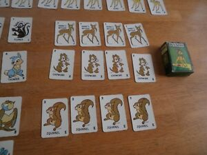 Bambi playing card mini game Russell Manufacturing 1960s V.4
