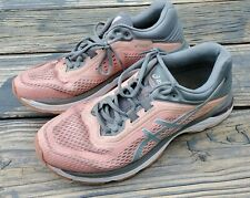 Asics GT-2000 6 Women's Pink/Gray Lace-Up Athletic Running Shoes Size 9.5