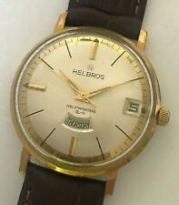Vintage 33.5mm Helbros Automatic day/date mens watch with seconds, Germany