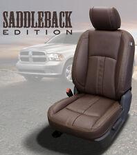 2013-2018 Dodge Ram Crew Cab KATZKIN Saddleback Coffee Canyon Brown Leather seat