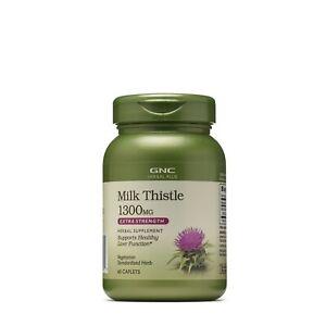GNC Herbal Plus® Milk Thistle 1300 MG Extra Strength 60 Caplets