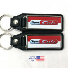 Honda Super Cub C125 Red Two-Tone Key Fobs Key Ring Keychain (2-Pack)