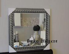 Spiegel Groß Wandspiegel Barock Art Medusa Badspiegel Dekoration Deko 75X75 SS