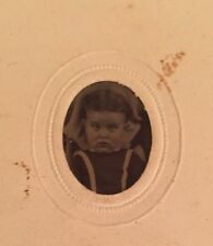 Antique Gem Miniature Tintype Photo Honey Boo Boo Look a Like