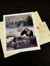 Rod Frederick Northern Light -(Moose) Edition 1500 Nif S/# Lithograph