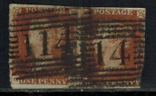 Great Britain #3 1841 1d Red Imperf Pair, GA-GB, VG