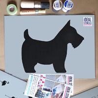 Scottie Dog Stencil Home Wall Decor Paint Reusable Art Craft Ideal Stencils Ltd