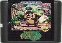 Taz-Mania (1992) 16 Bit Game Card For Sega Genesis / Mega Drive System