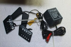VINTAGE TYCO BLACK  SLOT CAR CONTROLS AND ELECTRIC RACING POWER PACK