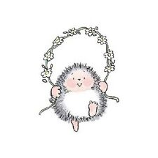 PENNY BLACK RUBBER STAMPS HEDGEHOG JUMP ROPE NEW wood STAMP