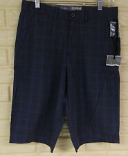 NWT CONVERSE ONE STAR BLUE WITH CRANBERRY PLAID SIZE 28. 100% COTTON FLAT FRONT