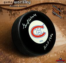 GUMP WORSLEY (deceased) Signed Montreal Canadiens Puck