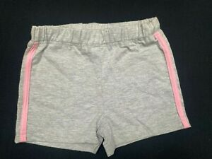Girls grey with pink shorts with white side stripes - Size 3