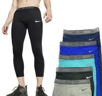 Nike Men's Pro Breathe 3/4 Length Athletic Training Tights AT3201 010  Size 2XL