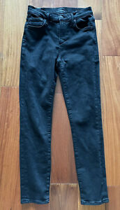 Citizens of Humanity Black Rocket Crop Mid Rise Skinny Black Jeans Size 25
