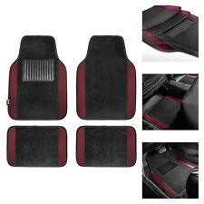 Burgundy Black Carpet Floor Mats For Auto Car Sedan Suv Van Universal Fitment Fits 2012 Toyota Corolla