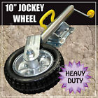 "10"" JOCKEY WHEEL 1000kg SWING UP SOLID WHEEL. CARAVAN BOAT TRAILER. GREASABLE"