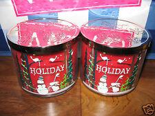 2 Bath & Body Works HOLIDAY  3-Wick Jar Candle 14.5 oz WINTER NEW