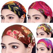 10 PCS Women Cotton Headband Printed Wide Hairband Lot Men Wrap Band Yoga SC01