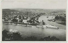 D KOBLENZ mit dem Scharfen Eck 1931 s/w AK RP gel. n. Holland (Marke Zahnfehler)