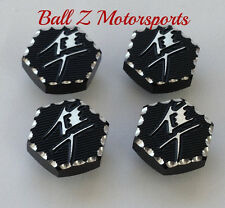 99-17 Hayabusa 3D Hex Black/Silver Ball Cut Triple Tree Bolt Plugs Covers/Caps!!