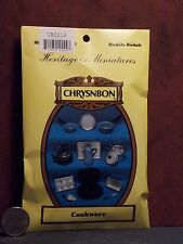 Dollhouse Miniature Cookware Set White Kit by Chrysnbon 1:12 one inch scale  F46