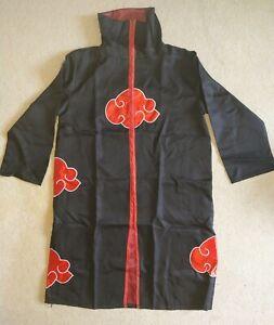 NARUTO Cosplay Cloak Costume Akatsuki Uchiha Itachi Anime (L Large)
