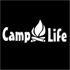 CAMP LIFE fire outdoors Bumper Sticker Window Car Truck Decal Vinyl