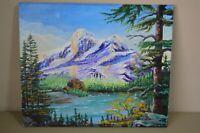 Harold Jones Landscape Alpine Lake Pine Tree Mountain Colorful Art Decor