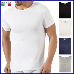 Maglia intima uomo girocollo manica corta in COTONE 100% maglietta t-shirt puro