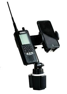 Cup Holder Mount  For Uniden SDS100 and BCD436HP And Smart Phone