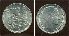 10 FRANCS  1947 B  TURIN   grosse tete  rameaux courts  ( SPL )  ( bis )