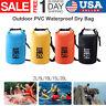 2L-20L PVC Waterproof Dry Bag Sack Ocean Pack Floating Boating Kayaking Camping