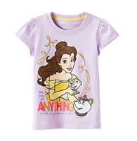 "Disney® Girls' 2T Beauty & the Beast Belle ""We Can Do Anything"" Glitter T-Shirt"
