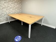 Bench Desks  1200x800 In bank Of 4 With Oak Desk Top Finish