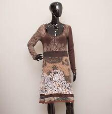 DESIGUAL Spanish Designer Brown Lace Pattern Dress Size M